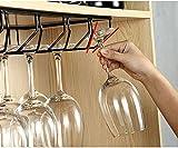 baoju Home Europäisches Weinregal Weinregal Stahlweiß Suspension 5 Größen für die meisten Brillengestell aus lackiertem Stahl
