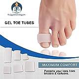 Dr Frederick originale del gel toe Tubes 12Piece variety Pack–Taglia piccola, media e grande–per dita dei piedi e separatori per calli–blister–calli