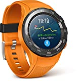 Huawei Watch 2 Smartwatch, 4G/LTE, 4 GB ROM, Android Wear, Bluetooth, Wifi, Monitoraggio della frequenza cardiaca, GPS + Glonass, Arancione (Dynamic Orange)