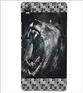 PrintDhaba Roaring Lion D-4634 Back Case Cover for LENOVO A7000 (Multi-Coloured)