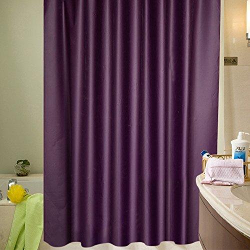 180 x 200cm Duschvorhang Anti-Schimmel Wasserdicht Badvorhang Duschvorhänge mit 12 Duschvorhangringe für Badezimmer (Lila, 180 x 200cm)