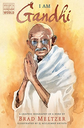 Twenty-five exceptional comic book creators join forces to share the heroic story of Gandhi in this inspiring graphic novel biography. As a young man in India, Gandhi saw firsthand how people were treated unfairly. Refusing to accept injustice, he ca...
