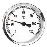 100 millimetri 0 - 120C termo indicatore della temperatura dell'olio d'acqua da 1/2 pollice posteriore termometro entry