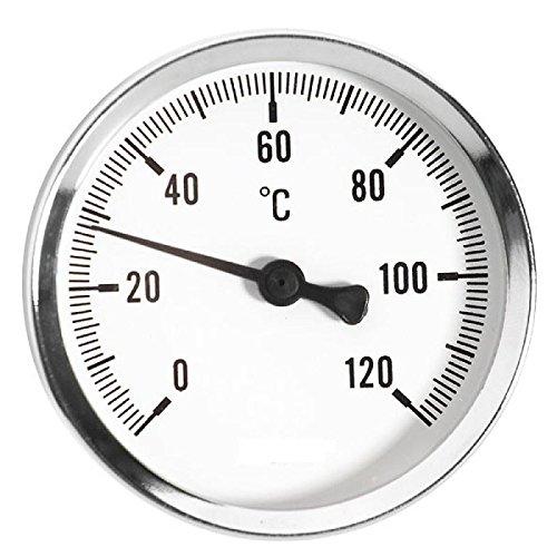 63mm 0 - 120C Thermo Wasser Öltemperaturanzeige 1/2 Zoll Heckeinstieg Thermometer -