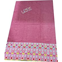 toalla playa 100x150 rosa gallinitas personalizada con nombre