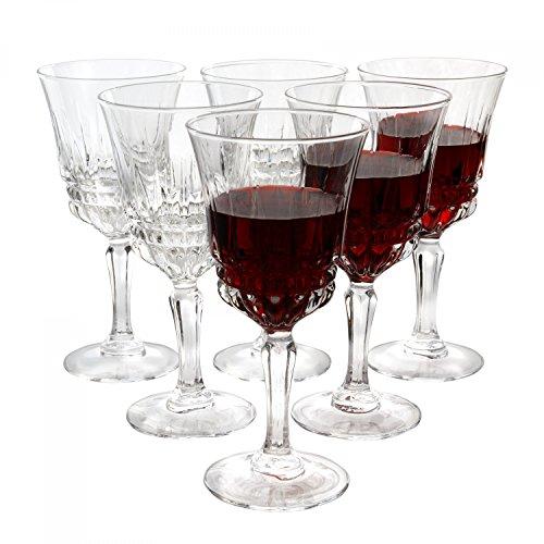 MamboCat Luminarc 6er Barock-Gläserset Imperator | 180 ml | königliches Weinglas auf hohem Fuß |...