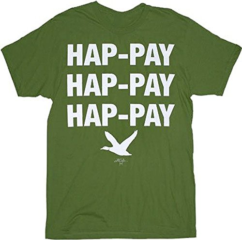 TV Store Duck Dynasty Phil Robertson Hap-pay Hap-pay Hap-pay Duck Erwachsene Military grün T-Shirt (XX-Large) (Grün Erwachsene T-shirt Military)