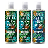 Faith In Nature Coconut Shampoo, Conditioner and Shower Gel Trio