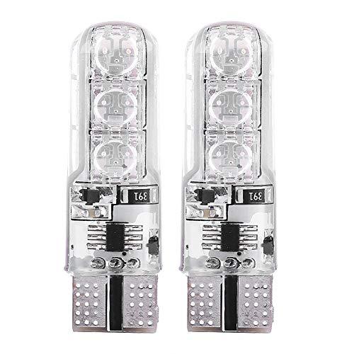 Lumières d'Ambiance LED, Keenso 6SMD 5050 Lumière Stroboscopique Eclairage Intérieur Atmosphère Ampoules de Voiture Côté T10 501 Multicolore avec Télécommande RGB