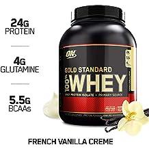 Optimum Nutrition Gold Standard 100% Whey Proteína en Polvo, Crema de Vainilla Francesa -
