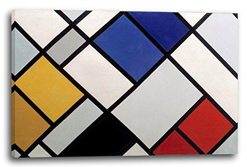 Theo von Doesburg - Kontra Komposition von Dissonanzen XVI (1925), 120 x 80 cm (weitere Größen verfügbar), Leinwand auf Keilrahmen gespannt und fertig zum Aufhängen, hochwertiger Kunstdruck aus deutscher Produktion