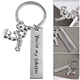 WeishenG Pragmatic Serie de TV Friends You'Re My Langosta Letra Key Chain Big Amazing Langosta Llavero - H02