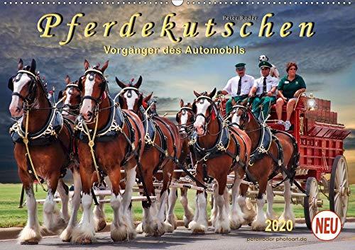 Pferdekutschen - Vorgänger des Automobils (Wandkalender 2020 DIN A2 quer): Kutschen, früher Statussymbol und das Reisefahrzeug schlechthin. (Monatskalender, 14 Seiten ) (CALVENDO Tiere)