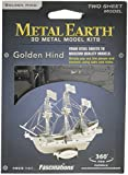 Fascinations Metal Earth MMS049 - 502466, Golden Hind, Konstruktionsspielzeug, 2 Metallplatinen, ab 14 Jahren