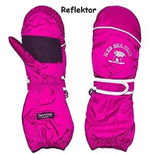 Unbekannt Thermohandschuh / Fausthandschuhe – mit langem Schaft –  rosa – pink  – Größe: 1 bis 9 Jahre – Reflektor ! _ wasserdicht + atmungsaktiv Thinsulate – Thermo ..