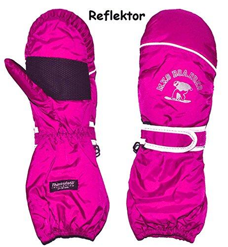 Unbekannt Thermohandschuh / Fausthandschuhe – mit langem Schaft –  rosa – pink  – Größe: 1 bis 2 Jahre – Reflektor ! _ wasserdicht + atmungsaktiv Thinsulate – Thermo .. | 04050677604687