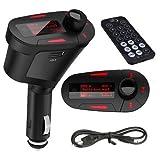 SODIAL (R) Rote LED Car Kit MP3-Player FM Transmitter USB SD MMC mit Fernbedienung