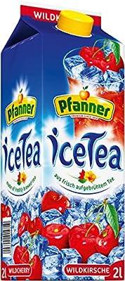 Pfanner Eistee Wildkirsch Früchte, 6er Pack (6 x 2 l Packung)