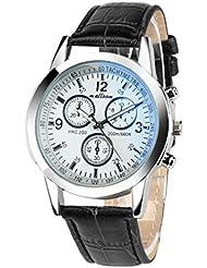 Reloje Hombre,Xinan Faux Reloj de Cuero para Hombres Relojes (Negro2)