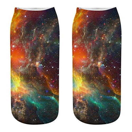 1Paar Socken Unisex 3D Drucken Socken Baumwolle Knöchelhöhe Baumwollsocken Sommersocken Freizeitsocken Sneakersocken Sportsocken für Erwachsene (B)