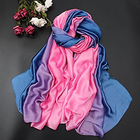 Ajunr-Silk Mulberry Silk Silk Scarves Thin Long Long Scarf Sun Shield Spring And Autumn Beach Towel 100-190Cm