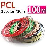 TIANLIANG04 Kein, keine Verschmutzung Geruch PCL-1,75 mm 3D-Pen 15 filamentos Farben, niedrige Temperatur 3D-pen Kunststoff, 3-D-Drucken filamento pcl-ABS-pla 1,75, 10 Farbe 10 m a 100 m