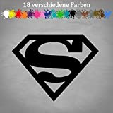 Generic Superman Logo 14x11cm Aufkleber Auto Golf Marvel Deko Car Tuning JDM OEM Sticker in 18 Farben