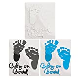 Nido del Bimbo - Stickers Adesivo Decalcomania Bimbo a Bordo - Alta tenuta - Non rovina la vernice - Rimovibile - Maschio, Femmina e Unisex - per tutte le superfici lisce - Foot Piede (AZZURRO)