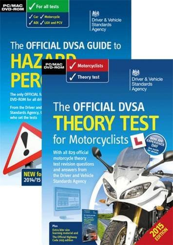 The official DVSA theory test for motorcyclists pack by Driver and Vehicle Standards Agency (2015-07-07)
