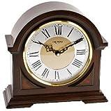 Watching Clocks - Orologio da tavolo, cassa in legno, design mezza luna, suoneria Westminster