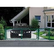 Einfahrtstor Toranlage 3-flügelig Grün Tor Hoftor Doppel Gartentor 350cm x 143cm