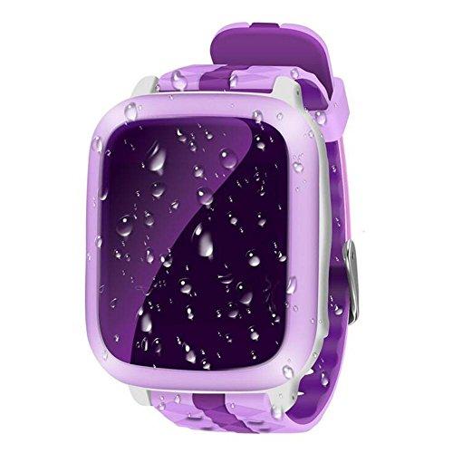 DUWIN 2017Intelligente Handyuhr der Kinder wasserdichte neue GPS-Positions-Farbenschirm-Screenkarte, zum der Handyuhr zu tragen , pink (Bluetooth Nähe Alarm)