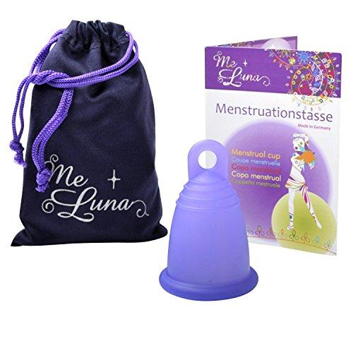 Me Luna Menstruationstasse Sport, Ring, Blau-Violett, Größe XL