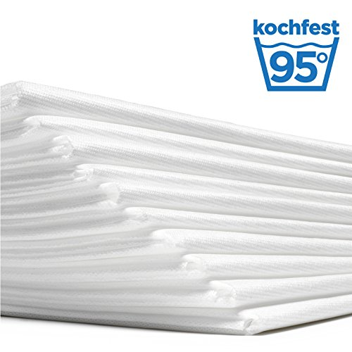 Waschfaserlaken ACTIV (300x waschbar) 10 St.+2 Laken GRATIS (80×210 cm, weiß) Waschvlies / Vlieslaken – OEKO-TEX® geprüft – ORIGINAL Dr. Güstel - 8