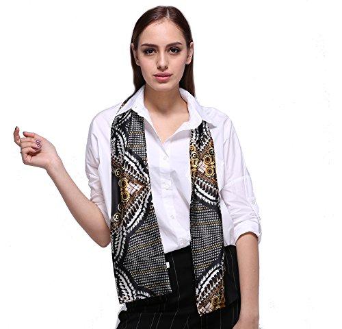 Damen Stilvoll Schals Halstücher Kopftücher Skinny Scarf Handgelenk Band Choker Krawatten Twilly(Mehrfarbig) (Silk Schal Skinny)