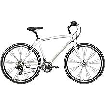 Adriatica - Bicicleta híbrida Boxter de hombre con cuadro de aluminio, ruedas de 71,12 cm (28 pulgadas), cambios Shimano de 21velocidades, Bianco