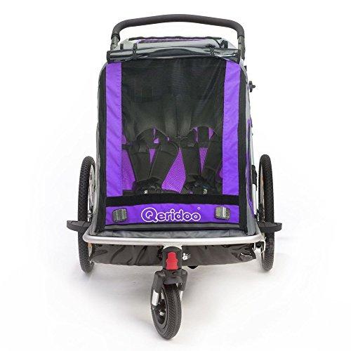 Qeridoo Q200A-Violet Speedkid2 Fahrradanhänger 2016, violett - 2