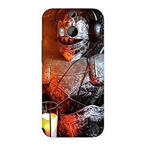 Gorgeous Knight Warrior Multicolor Back Case Cover for HTC One M8