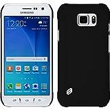 PhoneNatic Case für Samsung Galaxy S6 Active Hülle schwarz gummiert Hard-case + 2 Schutzfolien