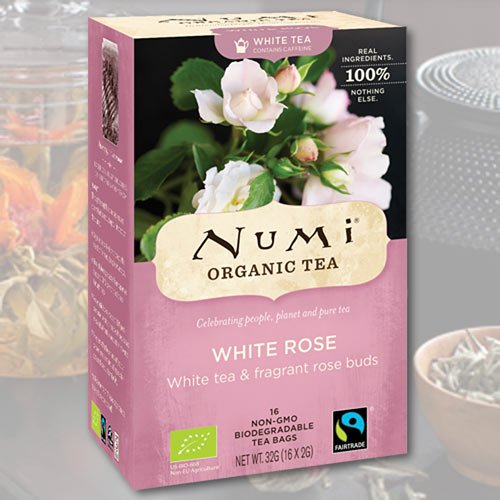 Numi Organic Tea White Rose, Full Leaf White Tea, 16-count Tea Bags - 1,13 oz (Pack Of 3) FlavorName: White Rose Size: 16 Count (Pack Of 3)