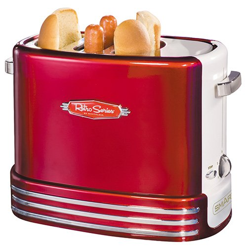 51qmBhlhr L. SS500  - Smart RHDT700 Red Retro Pop-Up Hot Dog Toaster Party Appliance, Metal
