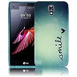 LG X Screen Smile Silikon Schutz-Hülle weiche Tasche Cover