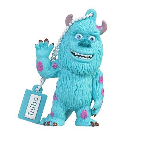 Tribe disney pixar monster & co. mike james sullivan chiavetta usb da 16 gb pendrive memoria usb flash drive 2.0 memory stick, idee regalo originali, figurine 3d, archiviazione dati usb gadget in pvc con portachiavi - multicolore