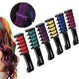 Rosenice Haarkreide schimmernde auswaschbare Haarfarbe in 6 verschiedenen Farbtönen