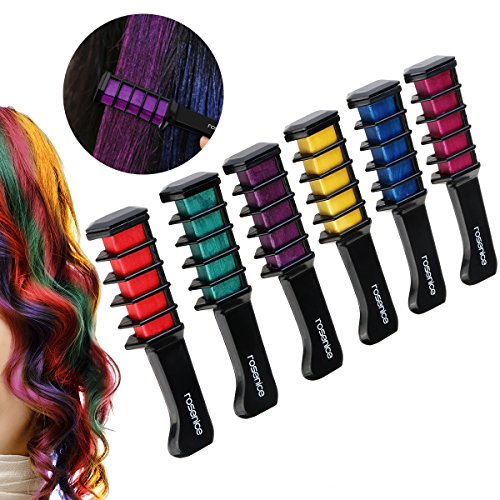 Rosenice Haarkreide schimmernde auswaschbare Haarfarbe in 6 verschiedenen Farbtönen Test