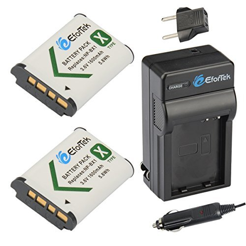 EforTek NP-BX1 Replacement Battery (2-Pack) and Charger kit Sony NP-BX1 NP-BX1/M8 and Sony Cyber-shot DSC-H400 DSC-HX50V DSC-HX300 DSC-HX400 DSC-RX1 DSC-RX1R DSC-RX100 DSC-RX100 II DSC-RX100 III DSC-RX100M2 DSC-RX100M3 DSC-WX300 DSC-WX350 HDR-AS10 HDR-AS15 HDR-AS30V HDR-AS100V HDR-AS100VR HDR-CX240 HDR-MV1 HDR-PJ275  available at amazon for Rs.2781
