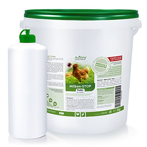AniForte Milben Stop Puder 10 Ltr. + Puderflasche, gegen rote Vogelmilben, Schädlinge