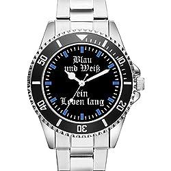 Blau und Weiß Gelsenkirchen Uhr Top Geschenk - Schöne Geschenkidee 2245