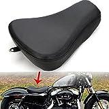 ECLEAR Motorrad Schwingsattel Front Sitzkissen Sitzpad für Harley Sportster XL1200 X 48 72