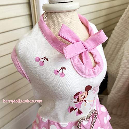L Pet supplies Japanische Single Kleid Disney Haustierkleidung Polka Dome Princess Kleid Katze und Hund Sommerkleid Bomei Yorkshire Welpen @ - Disney Princess Hunde Kostüm